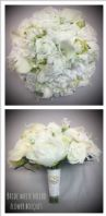 PEONIES VINTAGE BOUQUET BRIDE BROOCH WEDDING FLOWERS WHITE MIXED FLOWERS LILIES